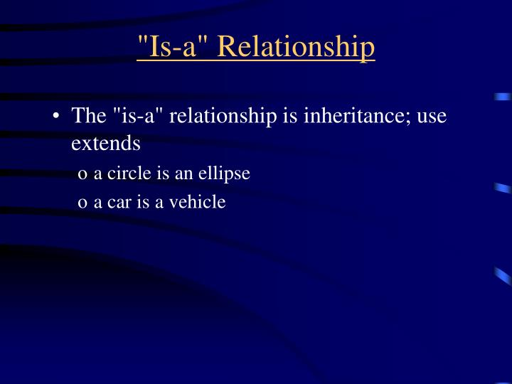 """Is-a"" Relationship"