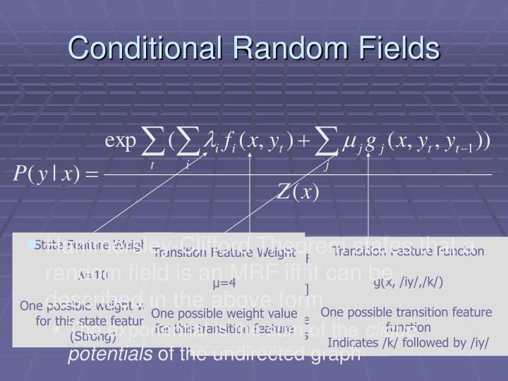 Conditional random fields3
