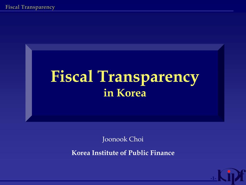 fiscal transparency in korea