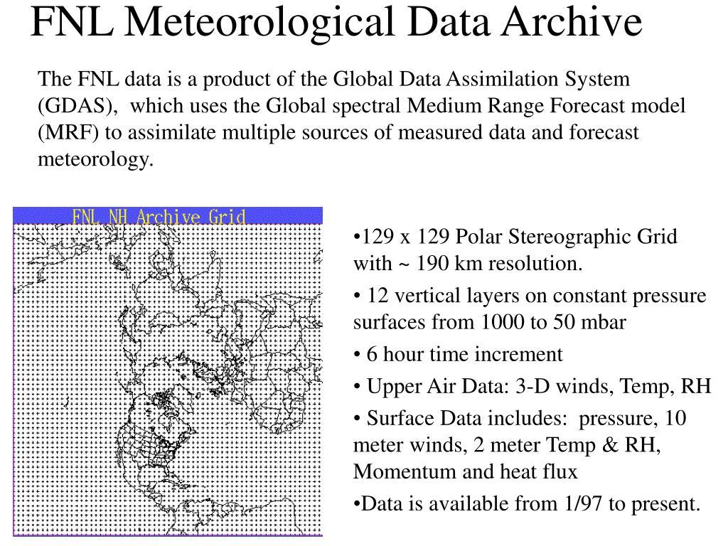 FNL Meteorological Data Archive
