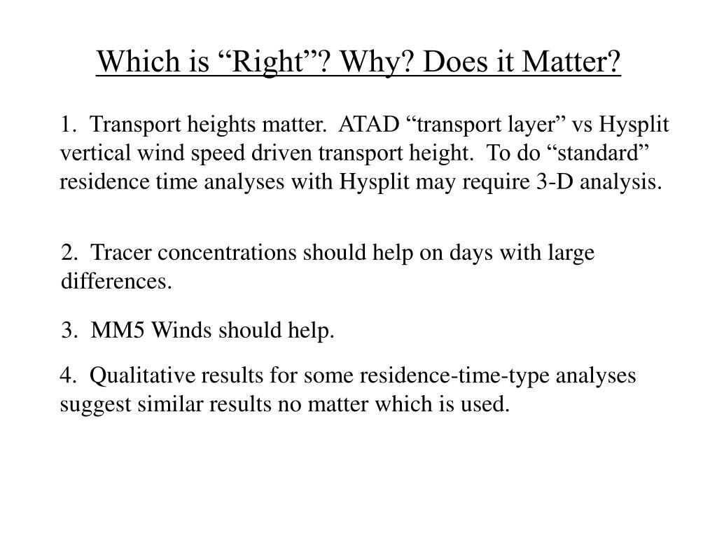 """Which is """"Right""""? Why? Does it Matter?"""