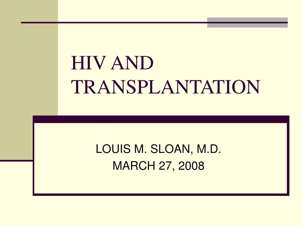 hiv and transplantation