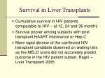survival in liver transplants