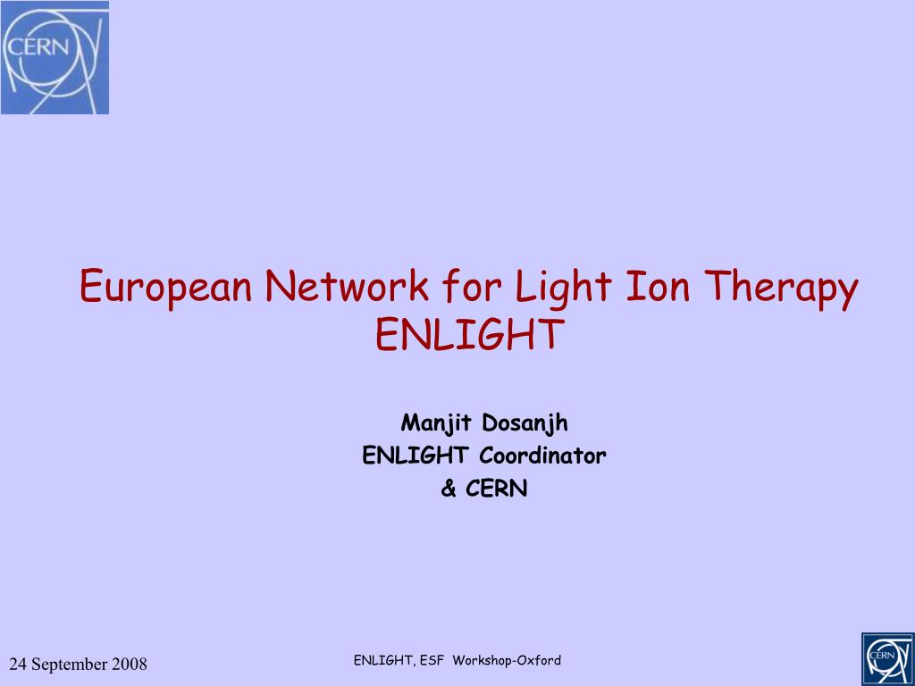 european network for light ion therapy enlight l.