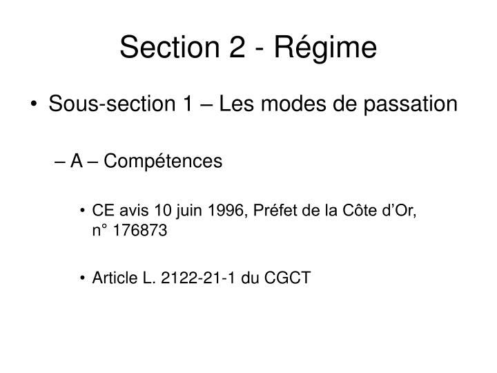 Section 2 r gime