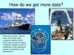 how do we get more data