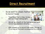 direct recruitment