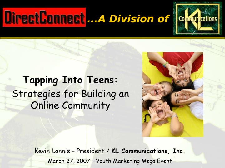 tapping into teens strategies for building an online community n.