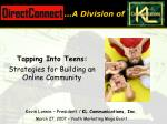 tapping into teens strategies for building an online community