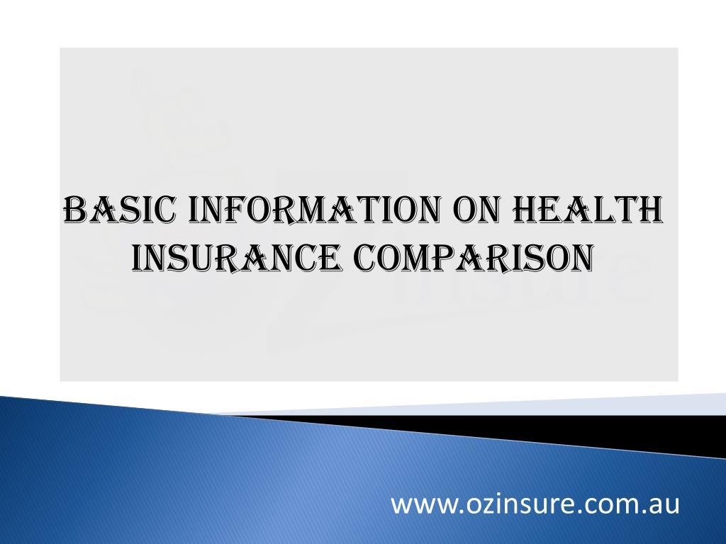 basic information on health insurance comparison