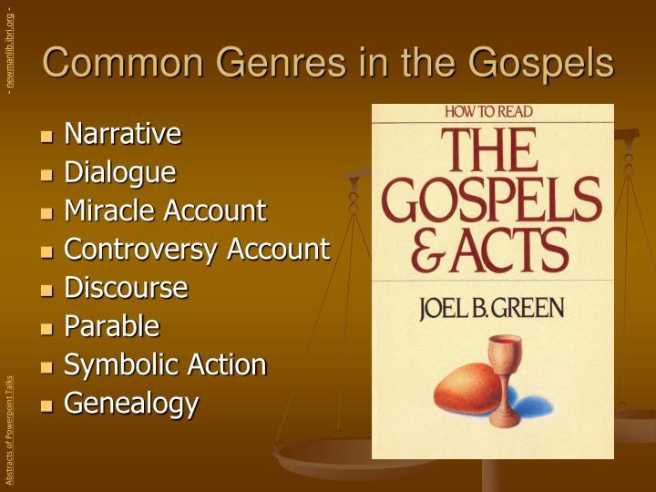 Common genres in the gospels