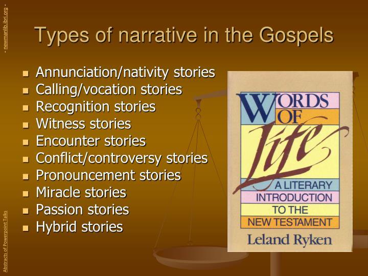 Types of narrative in the Gospels