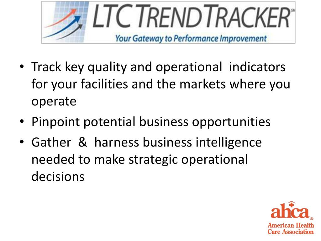 Track key quality and operational  indicators  for your facilities and the markets where you operate