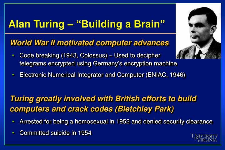 "Alan Turing – ""Building a Brain"""
