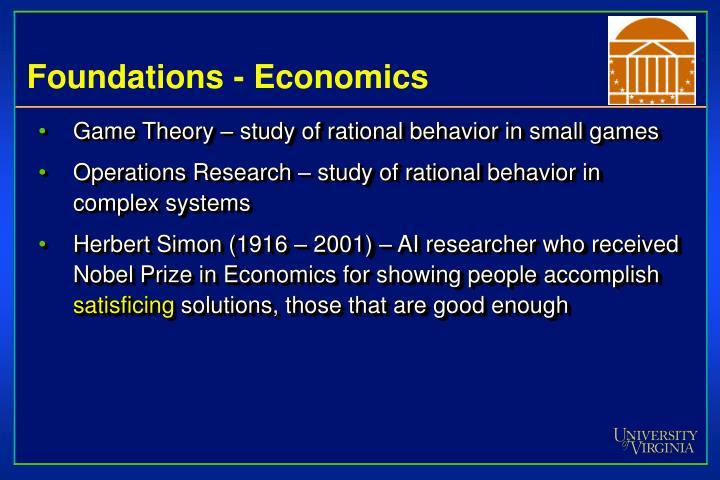 Foundations - Economics