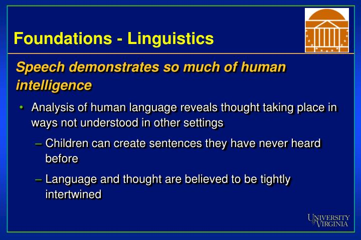 Foundations - Linguistics