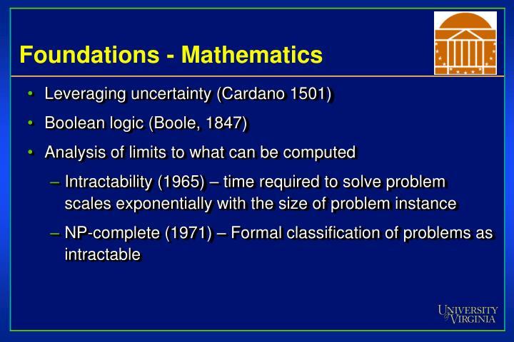 Foundations - Mathematics