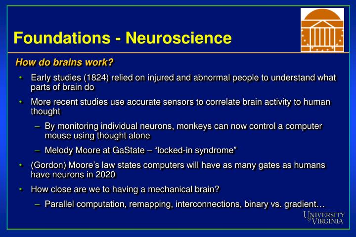 Foundations - Neuroscience