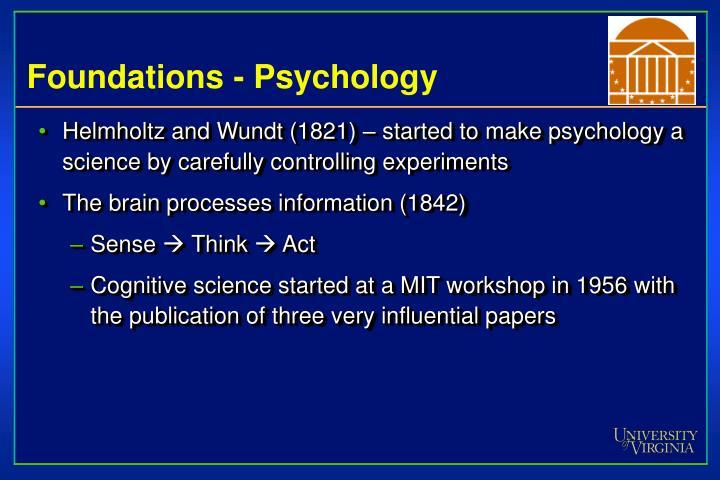 Foundations - Psychology