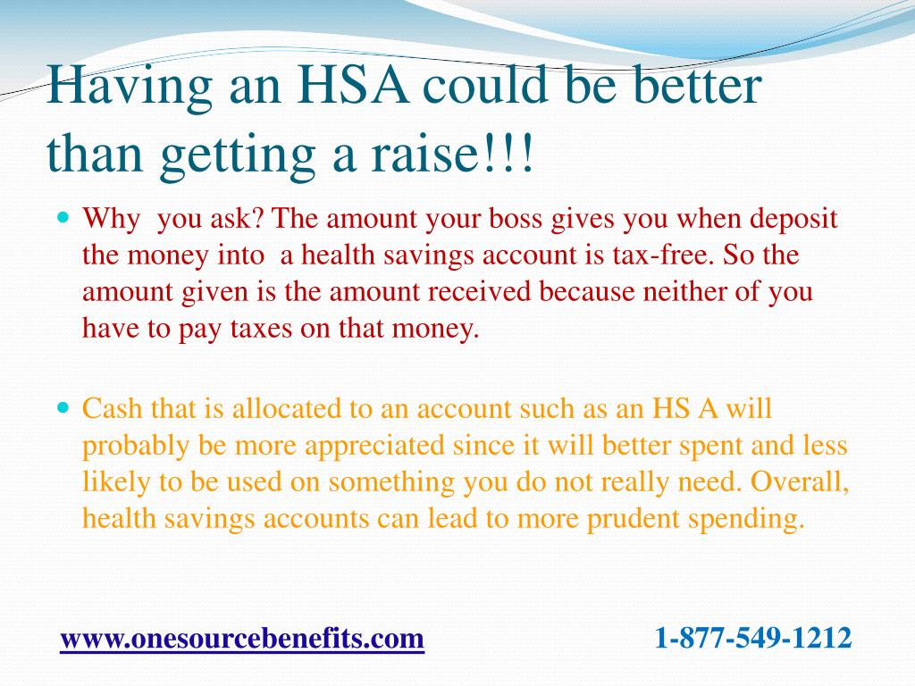 Having an HSA could be better than getting a raise!!!