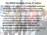 the wpath standards of care 6 th edition