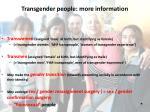 transgender people more information1