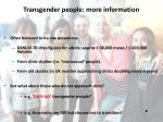 transgender people more information2