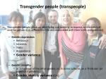 transgender people transpeople