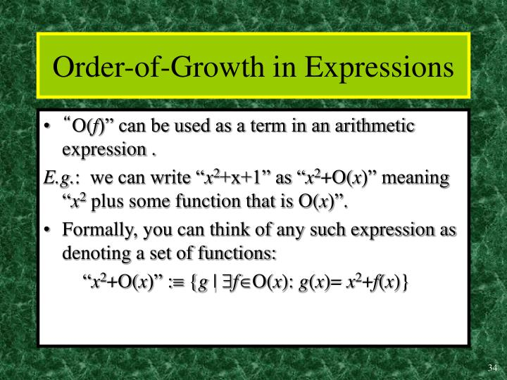 Order-of-Growth in Expressions