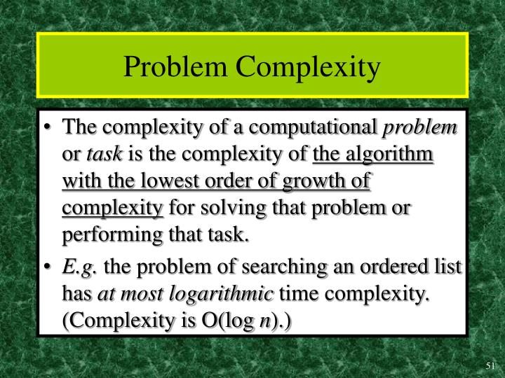 Problem Complexity