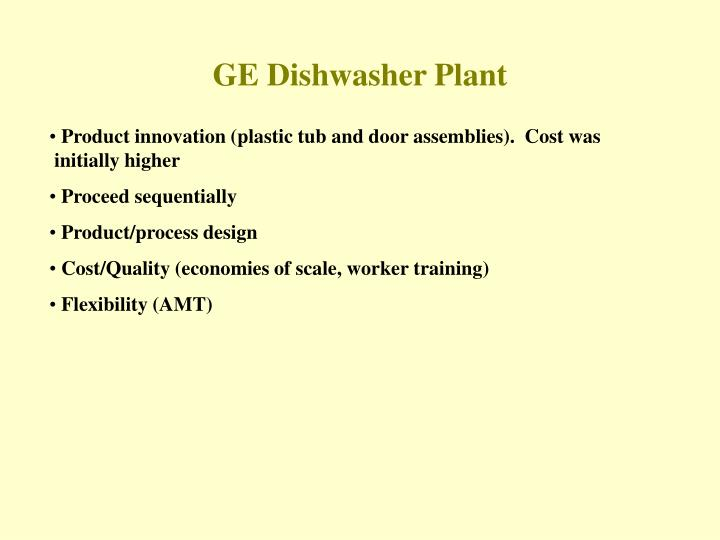 GE Dishwasher Plant