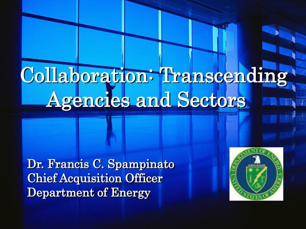 collaboration transcending agencies and sectors