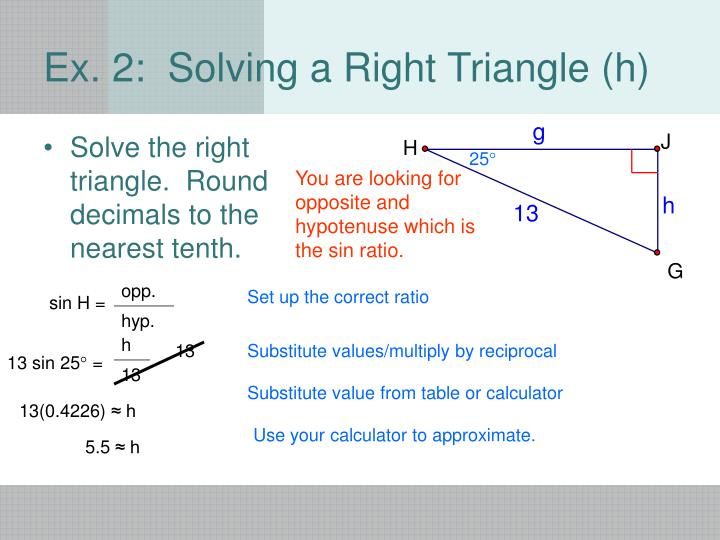Solve the right triangle.  Round decimals to the nearest tenth.