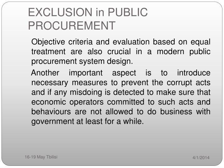 Exclusion in public procurement3