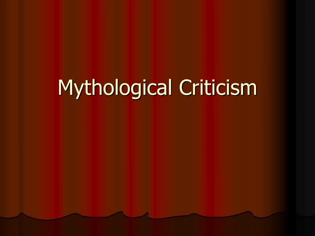 Mythological Criticism