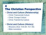 4 the christian perspective