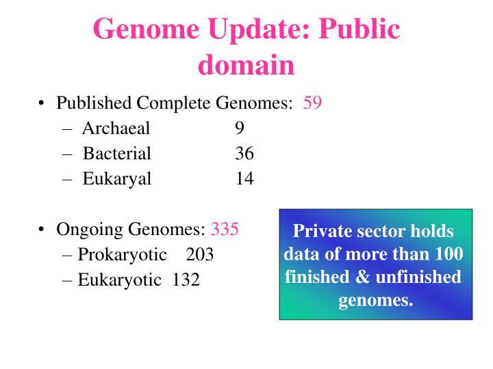Genome Update: Public domain