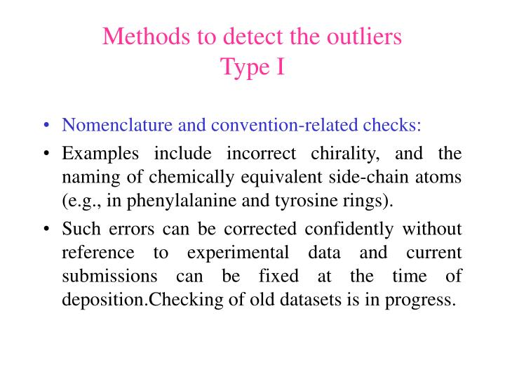 Methods to detect the outliers