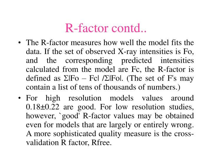 R-factor contd..