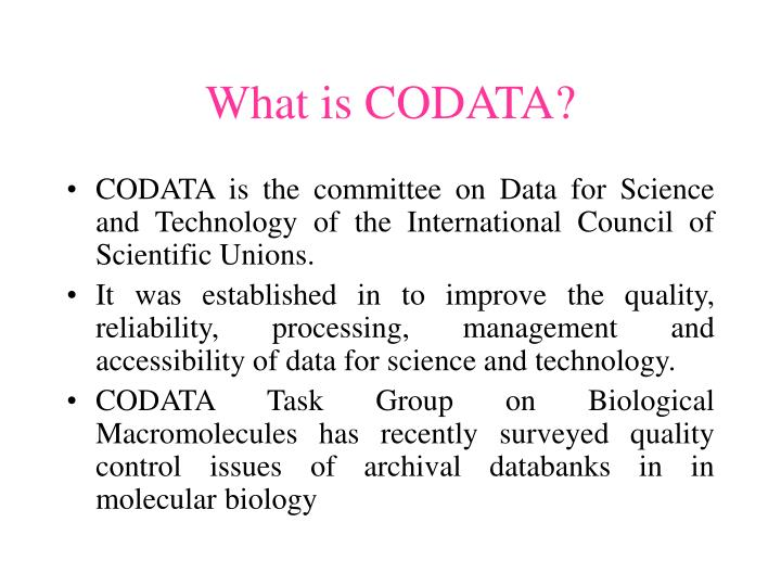 What is CODATA?