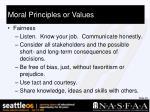 moral principles or values29