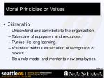 moral principles or values31