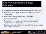 nasfaa statement of ethical principles