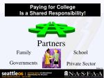 paying for college is a shared responsibility