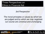 three perspectives on ethics in financial aid22