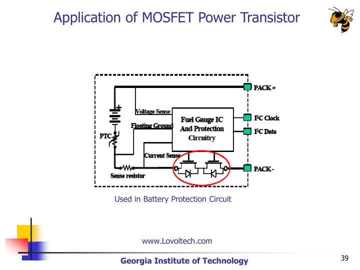 Application of MOSFET Power Transistor