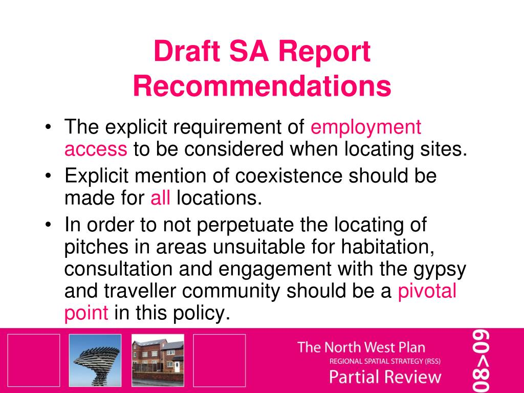 Draft SA Report Recommendations