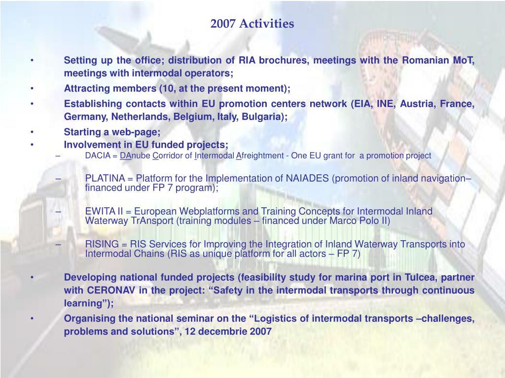 2007 Activities
