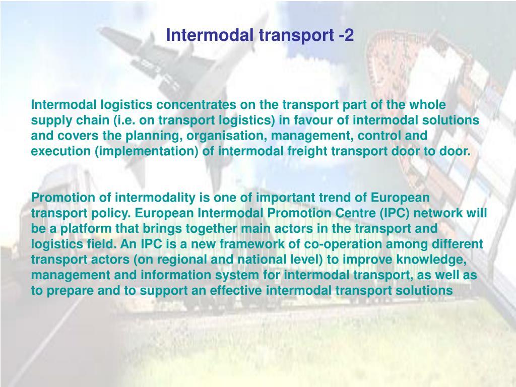 Intermodal transport -2