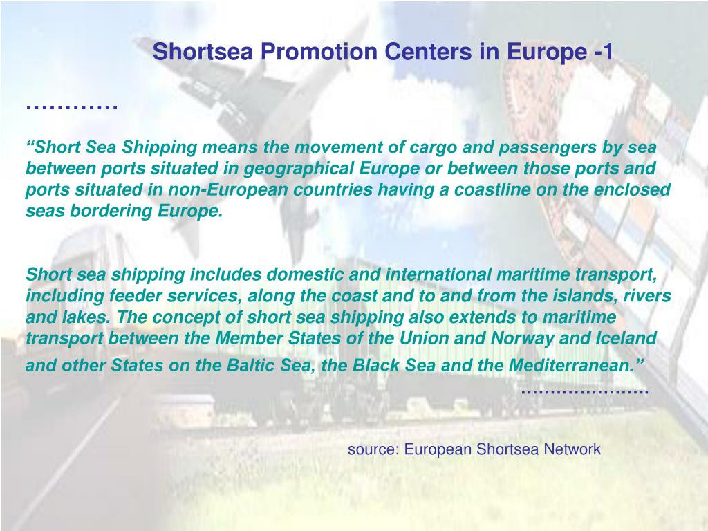 Shortsea Promotion Centers in Europe -1